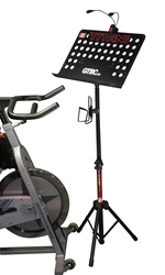 Spin bike book stand